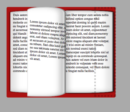 flipbook in CSS3. A page flip  done with CSS3