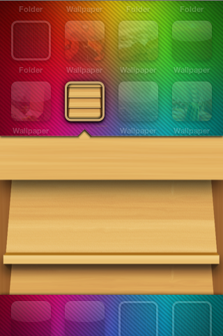 iOS style folders page split with jQuery