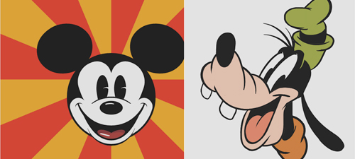 CSS3 Mickey Mouse and Goofy