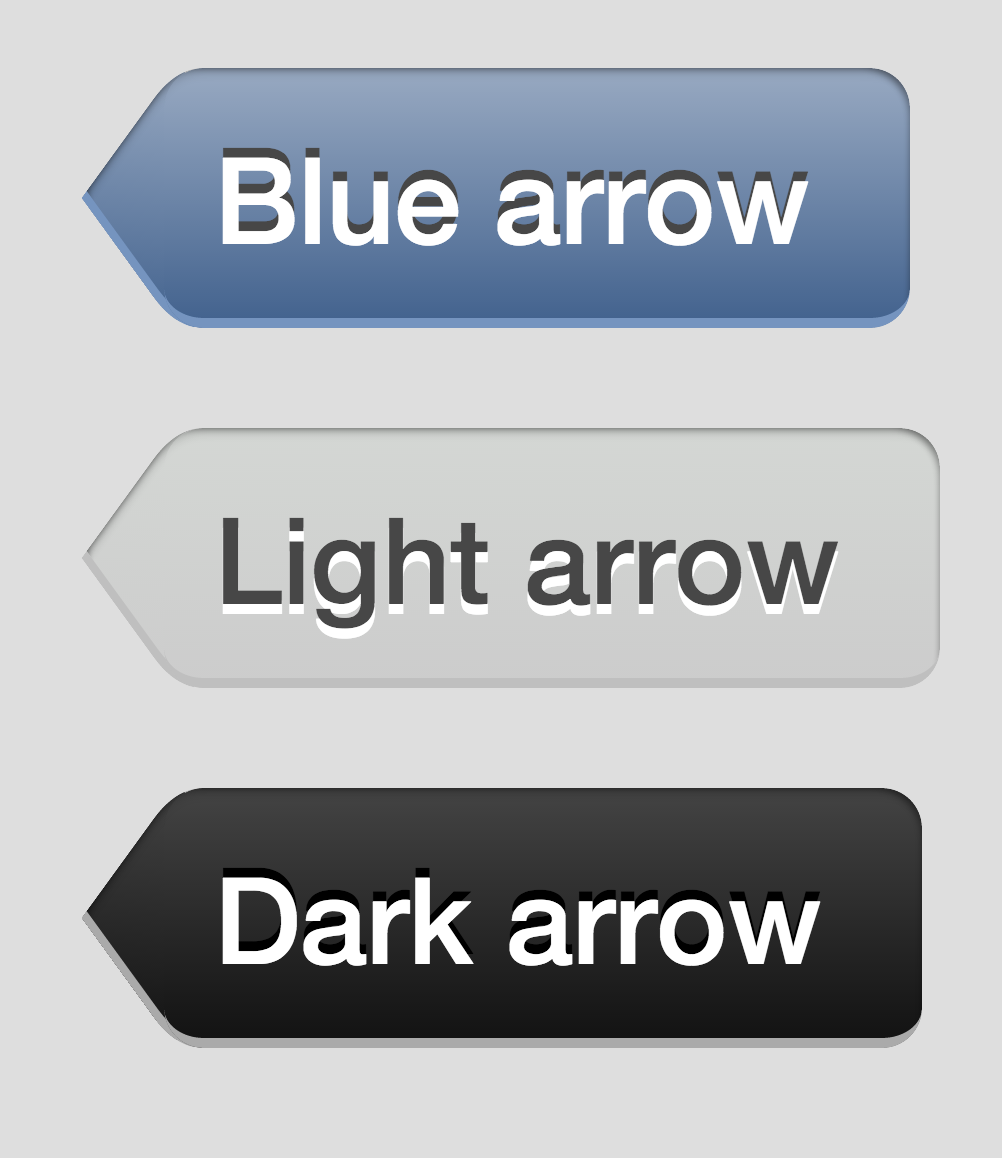 arrow button in pure CSS & HTML iOS 6    CSS3 HTML5 Back button
